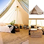 Wenzhi 10 and 12 Person Bell Tent Tents for Camping Waterproof Canvas Tent 6M with 4 Windows Stable Steel Pole…