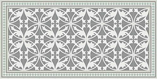 Tapis intérieur extérieur en Vinyle Carreaux de Ciment Feuilles 70 x 140 cm