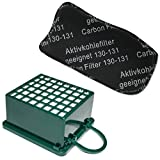 Kit de filtro HEPA / EPA + Filtros para los olores para aspiradora Vorwerk Kobold VK 130, 131 SC, VK130, VK131