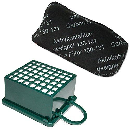 HEPA/EPA Filterset + Geruchsfilter für Staubsauger Vorwerk Kobold VK 130, 131SC, VK130, VK131