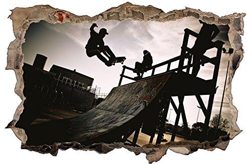 Skater Skateboard Wandtattoo Wandsticker Wandaufkleber D0910 Größe 70 cm x 110 cm