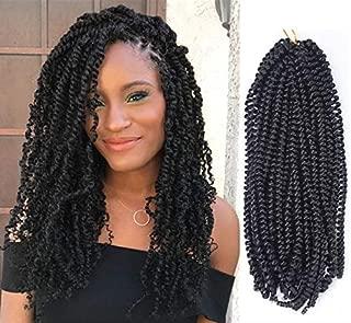 Long Spring Twist 14 Inch 4Pcs Fluffy Twist Crochet Braids Synthetic Braiding Hair Extensions Low Temperature Fiber (14