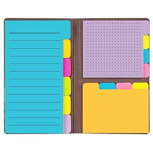 LELADY Note appiccicose, set di note adesive, blocchetti per appunti autoadesivi, prioritizzazione delle note adesive con divisore con codifica a colori,Nero (6,14 pollici * 4 pollici)