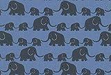 kukido Westfalenstoffe * Junge Linie * Elefanten 0,5m *
