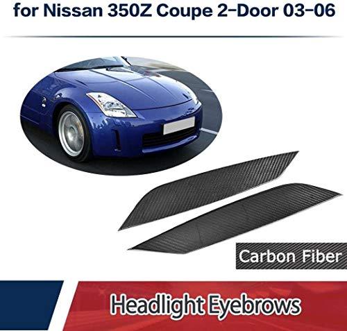 Dry Carbon Frontscheinwerfer Abdeckung Augenlid Licht Augenbrauen passt Nissan 350Z 2-Türer 2003-2006