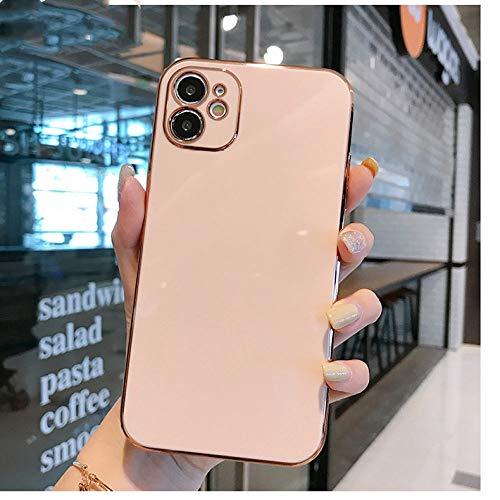 WGOUT Luxus vergoldete galvanisierte Hülle für iPhone 11 Pro Max 8 Plus 7 XR XS X Silikonlinsenschutz 12 Pro Max SE 2020 Abdeckung, T1, für iPhone 12