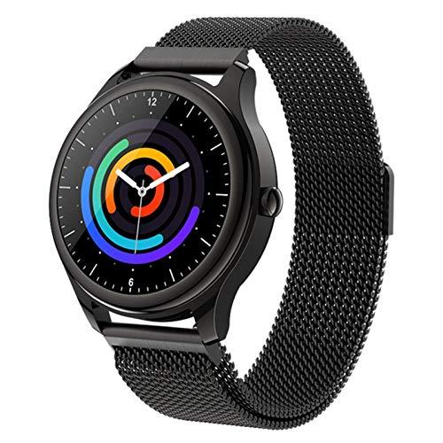 YWS S23 Smart Smart Watch 2021 Monitor De Ritmo Cardíaco Pulsera Control Música Deportes Negro Deportes Impermeable Smartwatch Android iOS Hombres Y Mujeres,A