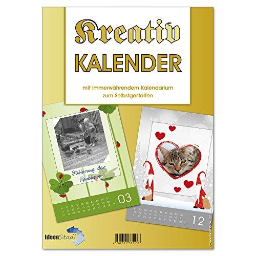 Fotokalender Bastelkalender zum selbst gestalten - immerwährend - Kreativ Kalender - mit Eulen - Erdmännchen - Eichhörnchen etc. 4610 (1 Bastelkalender)