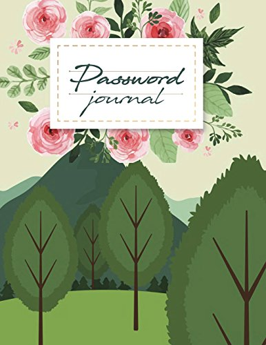 Password journal: Modern Password Keeper, Vault, Notebook and Online Organizer, Password Log Book with Tabs Alphabetized, Large Print Password 120 pages Large Print 8.5