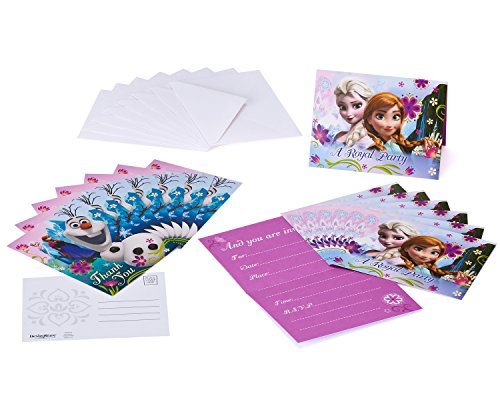 Frozen Invite and Thank You Combo, 8 Pack