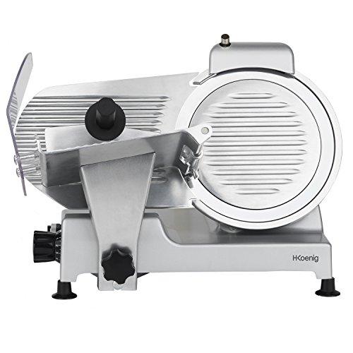 H.Koenig MSX250 Allessnijder/Snijmachine/Snijden van 0 tot 12 mm dik / 25 cm Ø messen/met messenslijper / 240 Watt/zilver