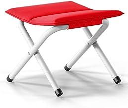 Yxsdd Folding Stool/Sofa Stool/Small Footstool/Wooden Stool/Shoe Stool/Footstools/Luxury Fabric Footstool/Multifunctional ...