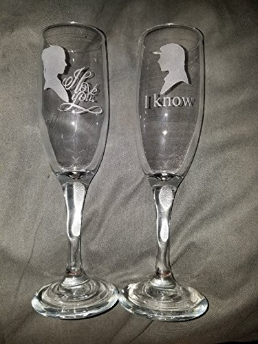 Beautiful Star Wars Champagne Flutes
