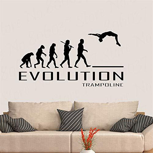 Trampoline Evolution Wall Sticker Vinyl Decor Decal Art Bounce Jump Nouveau Design Wallaper