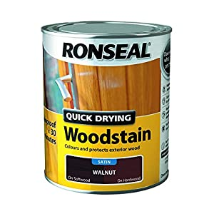 Ronseal Quick Drying Woodstain Walnut Satin 250ml