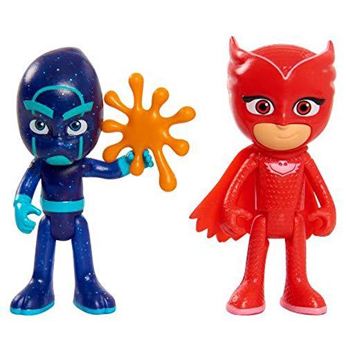 PJ Masks - Pack de 2 Figuras, Buhita y Ninja Nocturno (Bandai JP95308)