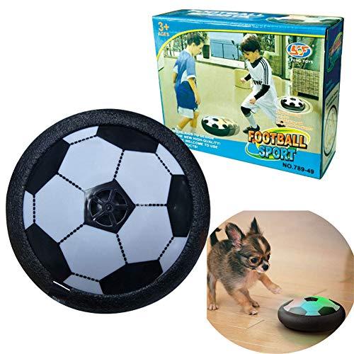 MSHK Hover Soccer Ball Sport Ball, Für Kinder Haustiere, Training, Drinnen Und Draußen, Mit Weichen Schaumstoff-Stoßstangen Und Bunten LED-Lichtern