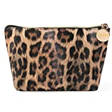 Makeup Bag Travel Cosmetic Bag for Purse Small Bag Leopard Cute Pouch Gift for Women and Girls