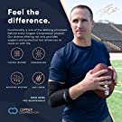 Copper Compression Recovery Elbow Sleeve - Guaranteed Highest Copper Content Elbow Brace for Tendonitis, Golfers or Tennis Elbow, Arthritis. Elbow Support Arm Sleeves Fit for Men and Women (Large) #1