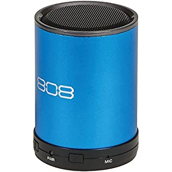 808 Canz Plus Bluetooth Wireless Speaker - Portable Bluetooth Speaker System with Enhanced Bass and Dynamic Sound (Wireless Bluetooth Speaker - Blue)