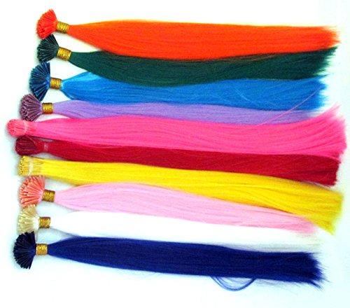 40,6 cm Uni 10 couleurs pinces cheveux en plumes véritables sans micro bead- Choisissez 1 à 50 plumes Bleu nuit
