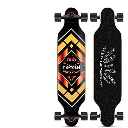 Longboard Dance Board Erwachsene Jugend Reisen 4-Rad Skateboard Allround Board Touch Gold Kapitän