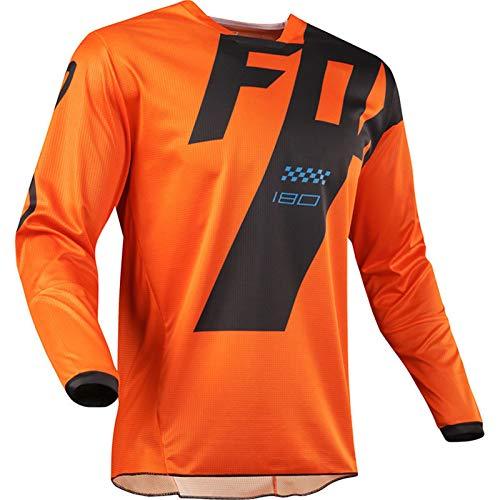 Mountain Bike Motocross Jersey Camiseta de Manga Larga - Traje de Descenso al Aire Libre A Prueba de Viento, Anti-UV (2,XL)