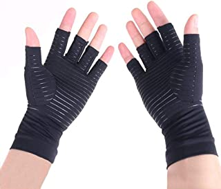 Copper Compression Arthritis Gloves to Speed Up Recovery & Relieve Symptoms of Arthritis, RSI, Tendonitis & More Best Copper Infused Fit Glove for Women and Men- 1 Pair (M)