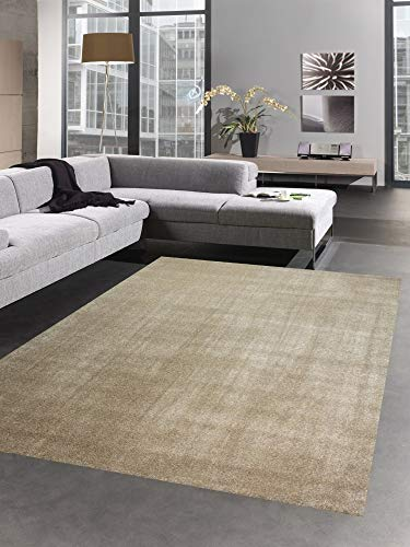 CARPETIA Modern Tapis carpette du Salon monocouche uni Taupe Brun Größe 80x150 cm