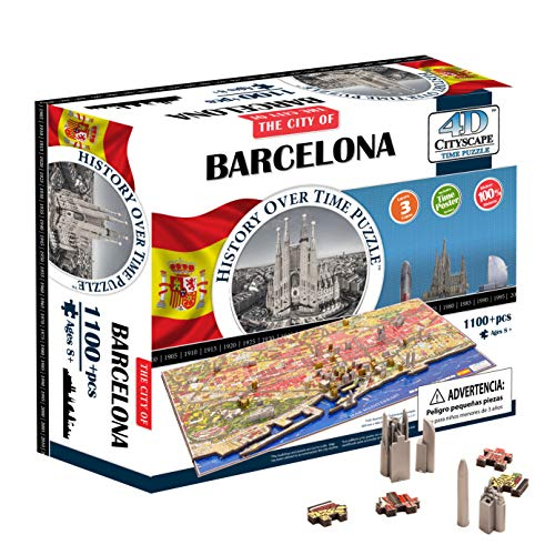 4D Cityscape Barcelona, Spain Time Puzzle
