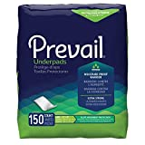 Prevail Fluff Incontinence Underpads, Large, 150 Count (Packaging May Vary)