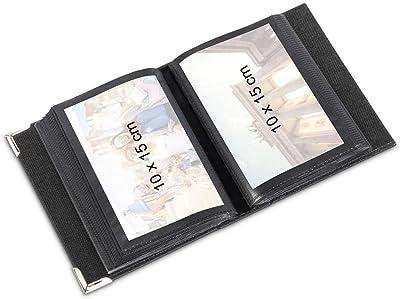 Hama New York City Negro Foto y Protector-Álbum de fotografía (130 mm, 175 mm, 100 Hojas, 10 x 15)