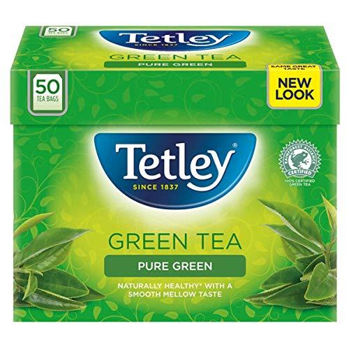 Tetley Pure Green Tea 50 Btl. 100g - grüner Tee für jeden Genuss