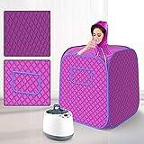 TTLIFE Sauna Portátil de Vapor 1000W 2L Vaporizador de Sauna Personal Relajado y Facial,Tienda Liviana,Doble Cara Impermeable para Pérdida De Peso Desintoxicación Tratamiento Relajarse