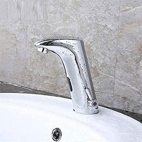 Grifo táctil en el cuarto de baño grifos grifos de sensor automático de infrarrojos grifo de inducción caliente y fría cobre adecuado para el baño del hotel