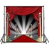YongFoto 3x3m Fondos Fotograficos Alfombra roja Cortina de Terciopelo presentación introductoria Escenario teatral Fondos para Fotografia Fiesta Boda Retrato Personal Estudio Fotográfico Accesorios