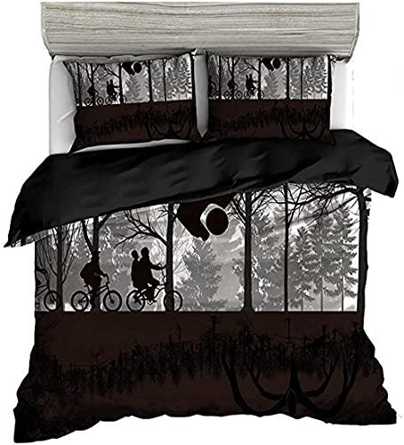 HSBZLH Funda De Edredón 90X200 Juego Cama Strange Things 3 Piezas Edredón Decorativo Moderno Edredón All Seasons Funda Nórdica Suave Y Liviana con Cierre Cremallera para Adolescentes Y Niños