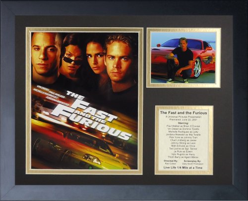 Legends Never Die The Fast and The Furious Movie Collectible | Framed Photo Collage Wall Art Decor - 12'x15'