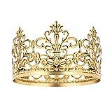 BESTONZON Tiara Crown/Gold Cake Crown Topper Crown Hair Ornaments Wedding Supplies Accessories (1PC)