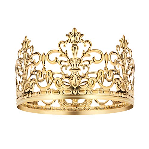 BESTONZON BESTONZON Tiara Crown Party Cake Decoration Crown Adornos para el cabello Suministros de boda Accesorios (oro)