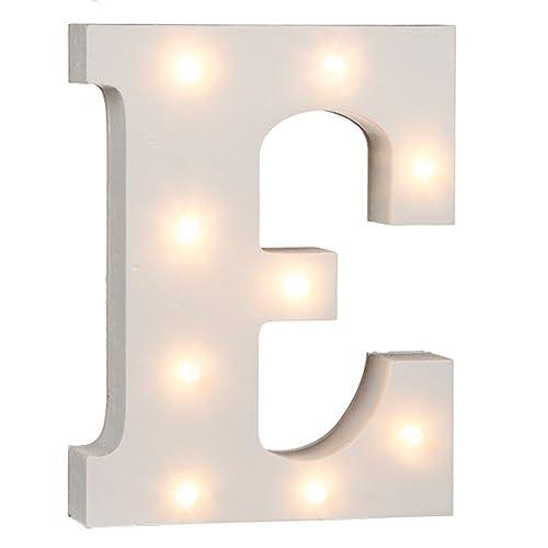 "White Small Upper Case 6cm /""E/"" NEW Wooden Alphabet Decoration Letter"