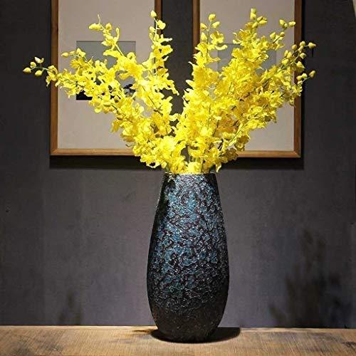 ZHJYDD HPZHPJJ Nuevo jarrón de cerámica Chino decoración Sala de Estar arreglo Flor seco Flor artesamos de Familia TV gabinete decoración Grande Piso