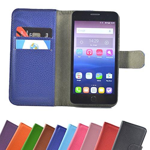 ikracase Hülle für ZTE Blade L5 / L5 Plus Handy Tasche Hülle Schutzhülle in Blau-Hot
