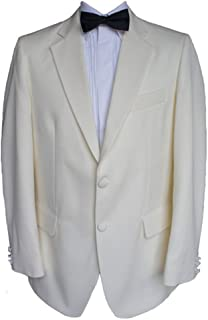 Clermont Direct 100% Wool Cream Tuxedo Jacket - Made in UK