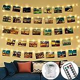 litogo Colgar Fotos de Luces, 5m 50 Led Clip Cadena de Luces LED 30 Pinzas Para Fotos Fotoclips Guirnalda de Luces Pinzas con Luz para Colgar Fotos Por decoración, Habitaciones, Bodas,Cumpleaños