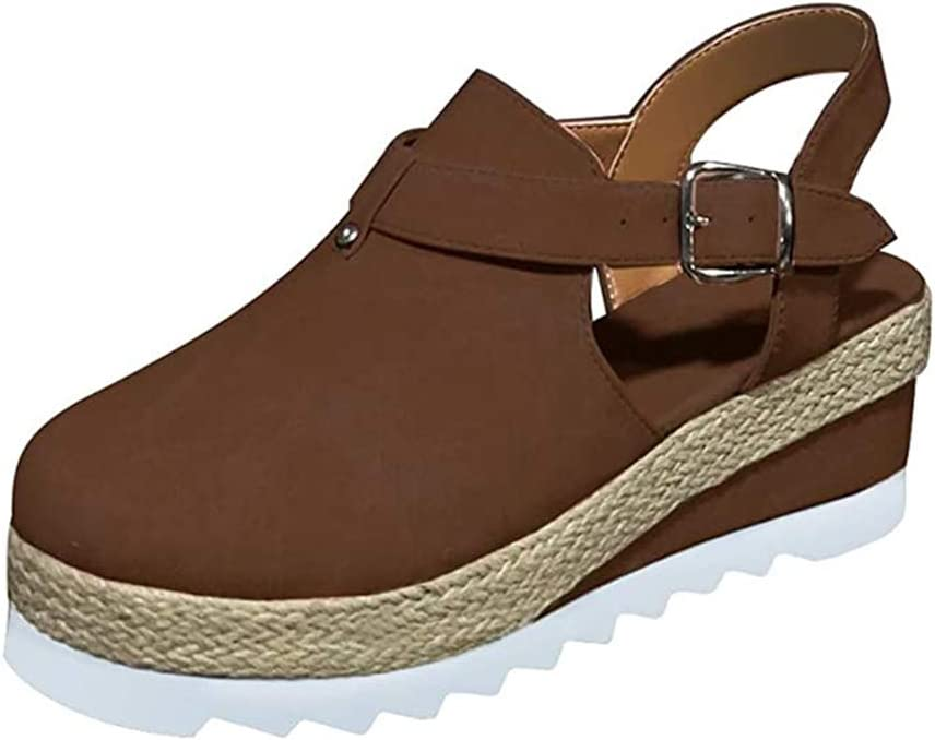 Free Shipping Cheap Bargain Gift OcaseQ Women's Genuine Wedges Sandals Summer Platforms Closed-Toe Sandal