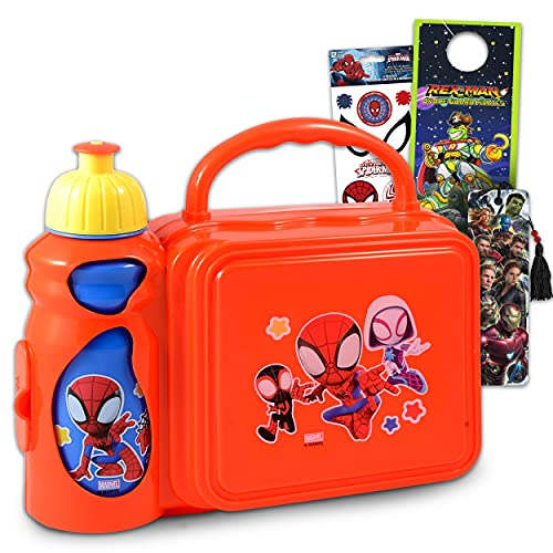 Spiderman Lunch Box For Boys Kids Bundle ~ Spiderman Lunch Box And Water Bottle...
