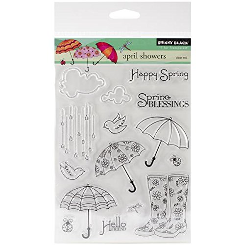 Love in Spring Penny Black Decorative Rubber Stamps