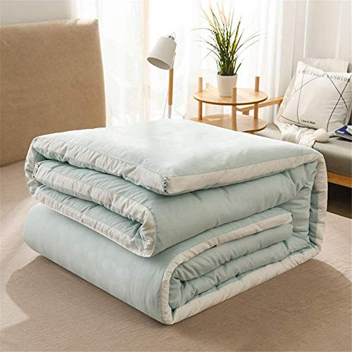 RUXMY Thermal King Size Quilt,Warm,Thick,Warm by Core, Lightweight,Washable, Soft Comforter,Antibacterial,Microfiber,Bed Accessory, Autumn/Winter,Green,150 * 200cm2.5kg