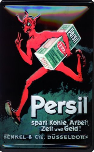Preisvergleich Produktbild Schild Alu Artdeco Persil Teufel 300x200mm